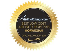 Logo: Norwegian AirlineRatings.com-vinder