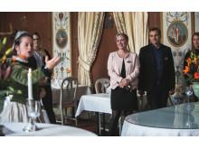 Maria Gustava hovar i matsalen