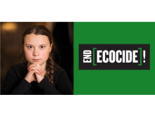 Greta Thunberg: End Ecocide! Skoljstrejk vecka 100.