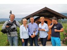 God Morgen Norge-sending under TelemarksVeka 2017, fra Fruktbygda i Gvarv i Telemark.