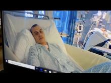 Asbjørn at Aberdeen hospital - awake - credits Judith Morell