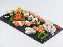 Sushi with Norwegian seafood