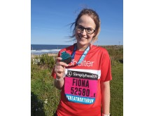 Fiona Dodd, a proud member of Team GNE, who ran to raise money for Shelter
