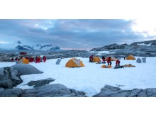 Camping at the Petermann Island, Antarctica
