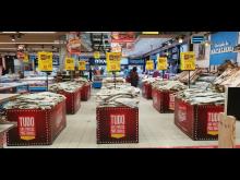 Klippfisk på supermarked i Portugal