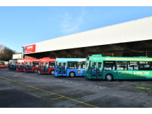Go North East raises funds for Gateshead Foodbank at special farewell bus event