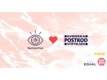 Nattskiftet, FATTA, Make Equal och Unizon får stöd av Postkodstiftelsen
