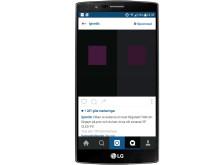 Instagram-annonsering för LG:s OLED-TV