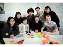 Tsukuba students with Northumbria staff and students