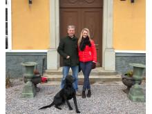 Nils och Sophia Bosson på Nyborgs gård skapar mer biologisk mångfald