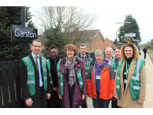 Mayor of Watford at Garston station - March 2019