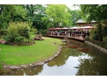 Zoo Leipzig - Blick zur Hacienda Las Casas