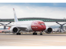Norwegians Dreamliner på London Gatwick