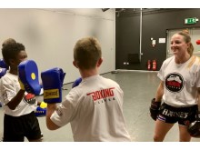New Boxing Clever after-school clubs in Milton Keynes with trainer Kelly Haynes