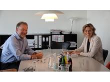 Vismas adm. direktør June Mejlgaard Jensen og kommunaldirektør Allan Vendelbo