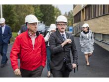 Göran Ernstson, vd Umeå Energi och närings-och innovationsminister Mikael Damberg