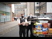 Officers at Royal London Hospital