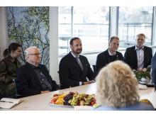Thor Lundh, Kronprins Haakon, Thor-Anders Lundh Haakestad og Henrik Bager