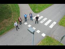 Testprojektet för de smarta lyktstolparna utförs i den smarta byn Veberöd i Skåne