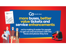 More buses and better value tickets introduced by Go North East with service enhancements from Saturday