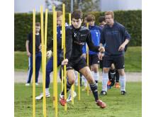 Ekbackeskolans fotbollsträning