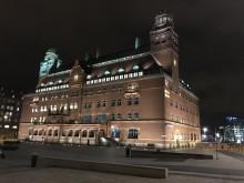 Posthuset i Malmö - en av tävlande om Svenska Ljuspriset i år.