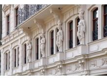 Rekonstruierte historische Fassade von Arwed Rossbach