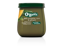 Organix just courgette, corn & spinach