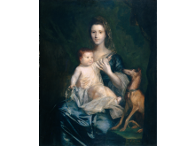 Joshua Reynolds - Jane Hamilton, Wife of 9th Lord Cathcart, and her Daugther Jane, later Duchess of Atholl, 1754-1755 - Manchester Art Gallery