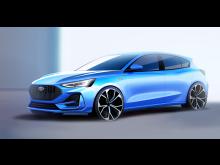 Ford Focus ST-Line skisse 2021 (2)