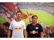 Julian Nagelsmann und Markus Krösche zum Trainingsauftakt des RBL