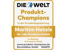 Gütesiegel Produkt-Champions Maritim