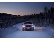 Slippery Road Alert demonstration on V60