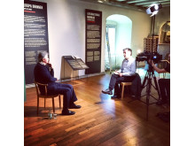 Antony Beevor intervjuas på Armémuseum, Stockholm