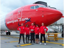 Norwegian staff mark Football Short Friday as Bobby Moore announced as new tail fin hero