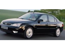 Stock of image of black Ford Mondeo