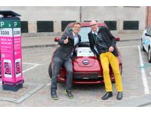 Inför OECR: Mattias Goldmann, Per Lundgren, Nissan Leaf