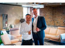 Mr. Zhao Ruihai og Olav Holst-Dyrnes