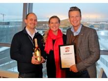 Vinner: Organisasjoner og offentlige virksomheter 2012: Oslo Lufthavn AS