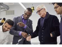 James Dyson with sKan team