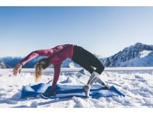 Yoga auf 2.900m Höhe auf dem Stubaier Gletscher