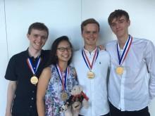 Det danske kemi-landshold med OL-medaljer