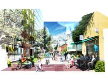 Visionsbild - boendemiljö i Hyllie centrum