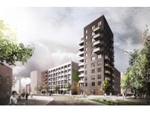 Einar Mattsson uppför 130 energismarta hyresrätter i kv Koppången i Norra Djurgårdsstaden