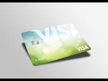 Visa Karte aus recyceltem Kunststoff