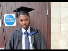 David graduating