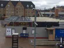 Elstree station extension - 10 Feb structure up