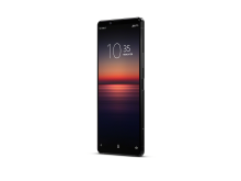 Xperia 1 II_front40_black_withClock-Large