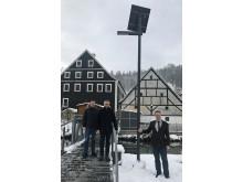 Inbetriebnahme Solar-Leuchten Hohenbrunn