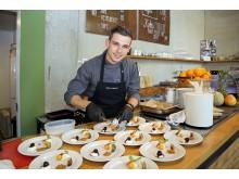Dinnershow-Chefkoch Martin Heindorf kreiert das 4-Gang-Menü
